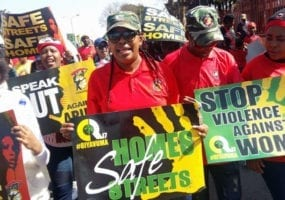 South Africa, gender-based violence at work, TotalShutdown, unions, COSATU, Solidarity Center