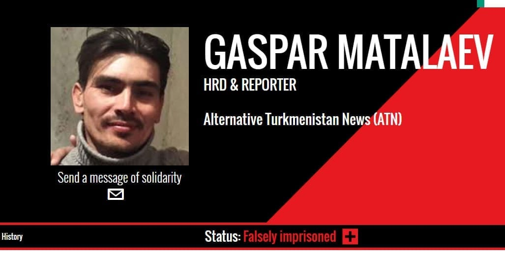 Turkmenistan, Gaspar Matalaev, journalist, human rights, unions, Solidarity Center