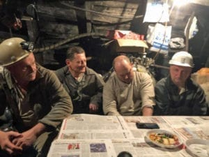 Ukraine, coal miners, underground protest, unpaid wages, Solidarity Center, unions