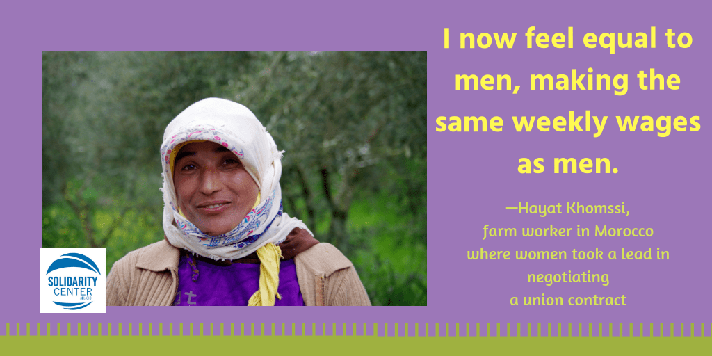 Morocco, women, farm workers, gender equality, Solidarity Center
