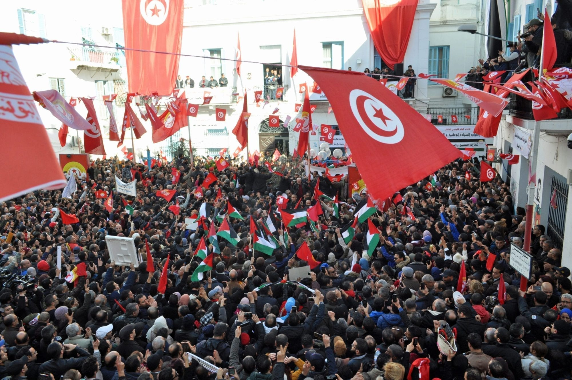 670,000 Public-Sector Workers Strike in Tunisia