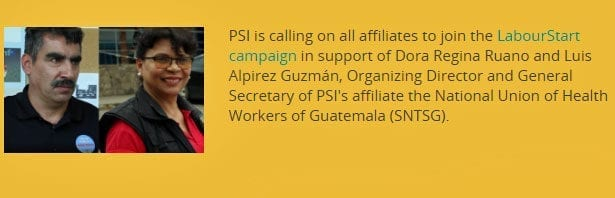 Guatemala, union leaders threatened, worker rights, Solidarity Center