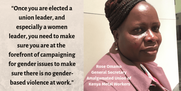 Kenya, gender-based violence at work, gender equality, unions, Solidarity Center