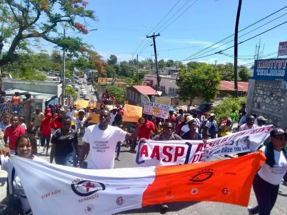 Haiti, May Day 2019, Solidarity Center, GOSTTRA