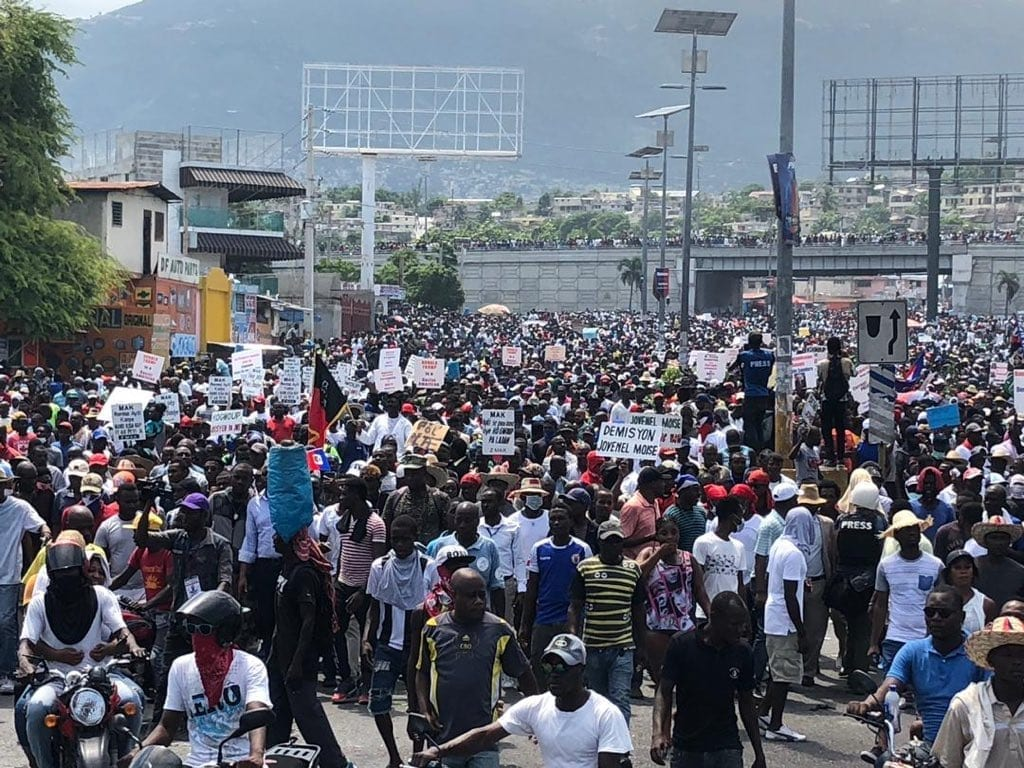 Haiti, protests, unions, Solidarity Center, Joint Declaration for a National Rescue Government