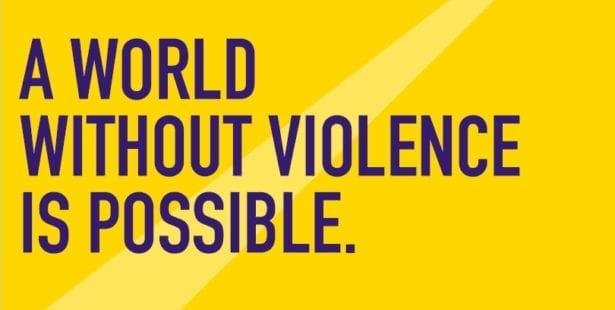 A World Without Violence Is Possible, graphic for 16 Days of Activism to End Violence Against Women, Solidarity Center