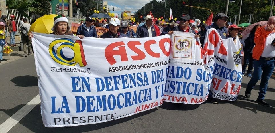 Colombian Workers, Allies Wage 3rd Protest for Justice
