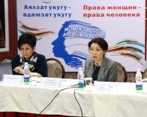 Kyrgyzstan, 16 days of Action on Gender-Based Violence Against Women at work, Solidarity Center
