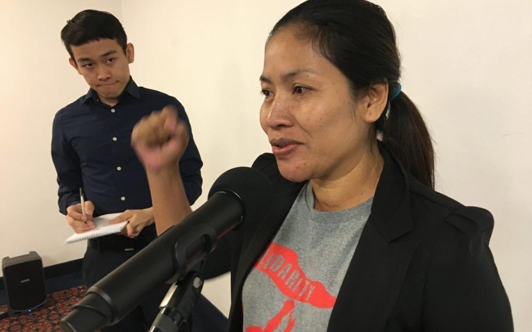 Sophron Yang CATU president and worker organizer