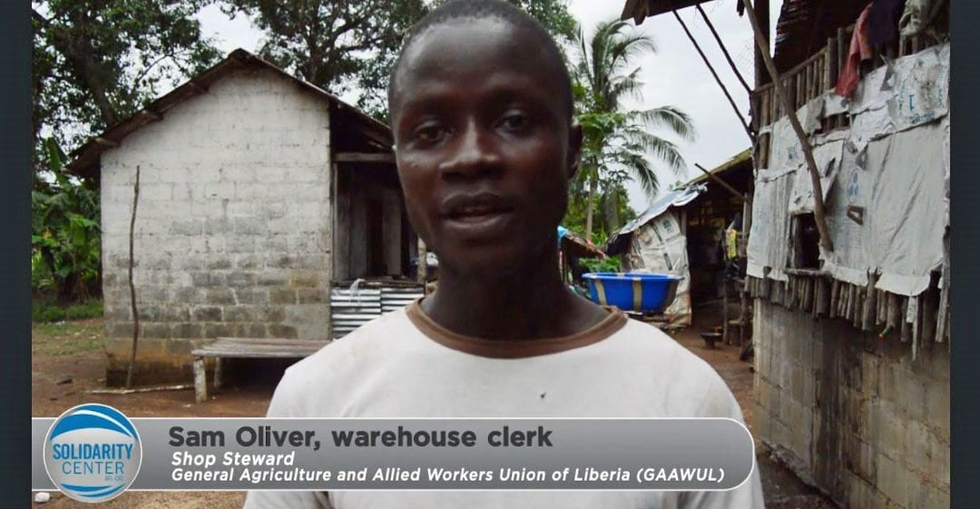 Sam Oliver: Helping Liberia Rubber Plantation Workers Get a Voice on the Job