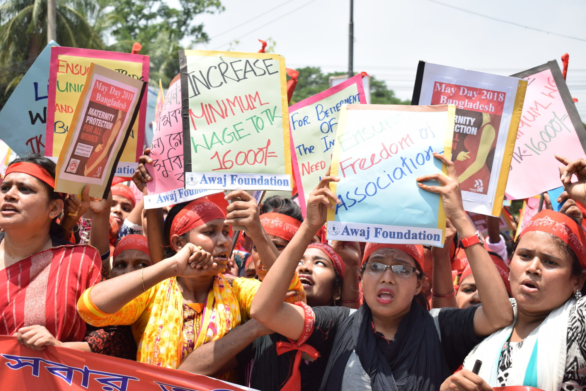 Bangladesh, garment workers, May Day protest, Solidarity Center, worker rights, human rights