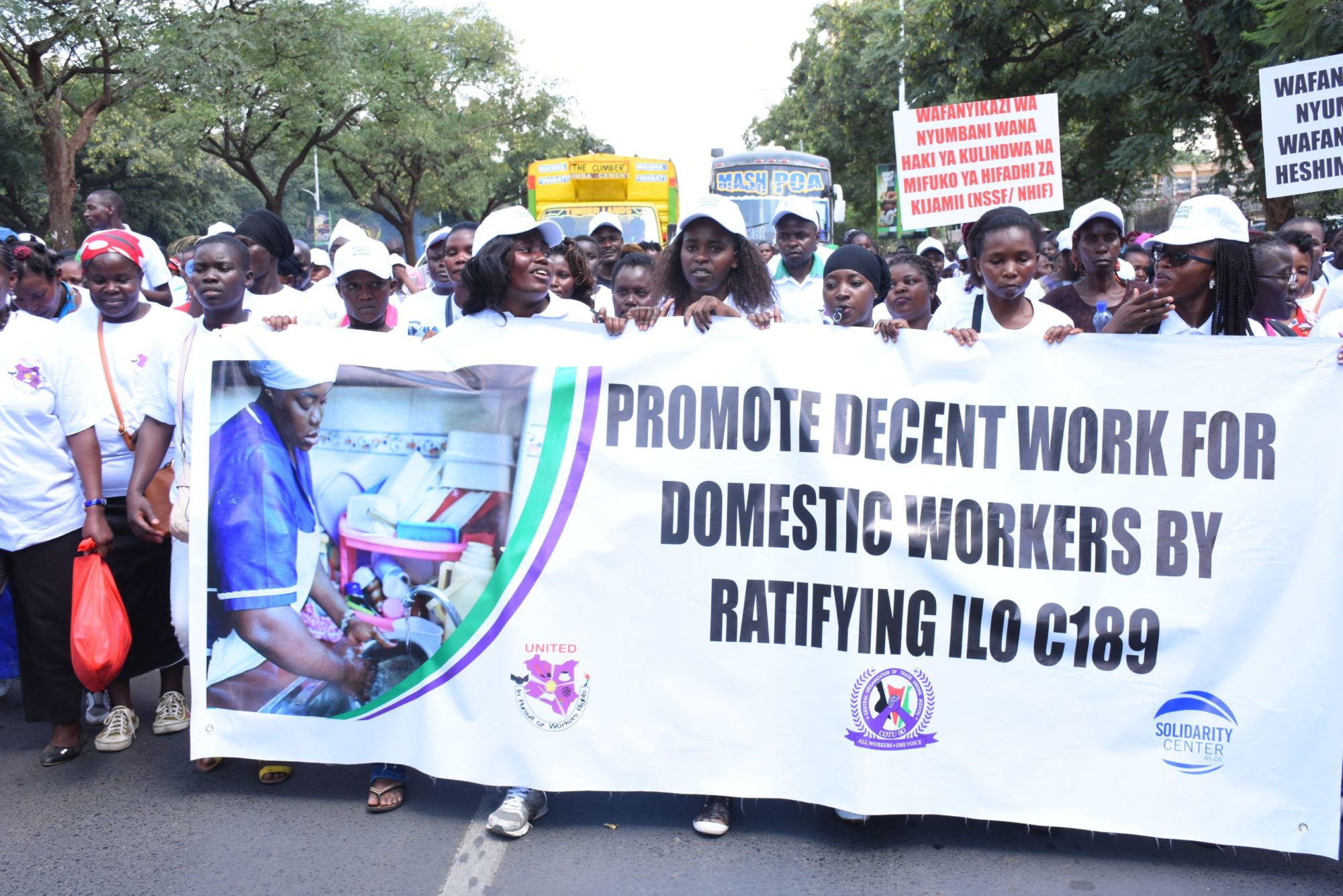 Kenya, domestic workers, ILO Convention 189, Solidarity Center
