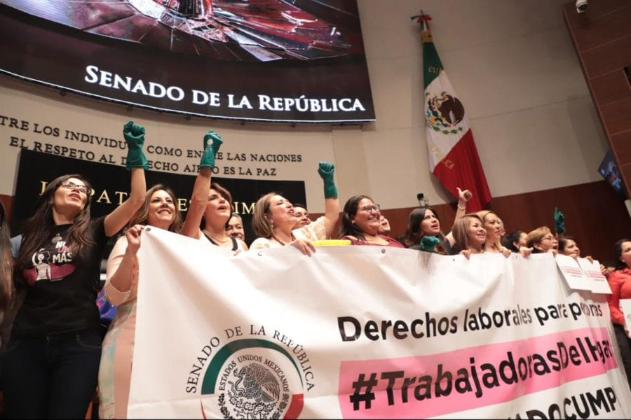 Mexico, labor law passage for domestic worker rights,2019, worker rights, Solidarity Center