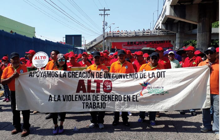 Honduras, anti-union violence rally, Solidarity Center, worker rights, freedom to form a union
