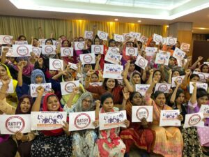 Bangladesh, end gender-based violence rally, worker rights, Solidarity Center