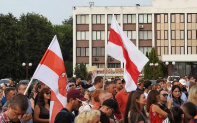 Belarus, democracy rallies with union members, repression, worker rights, Solidarity Center