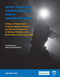 South Africa GBVH mining 2021 report cover