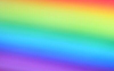 Rainbow mist, LGBTQ pride illustration