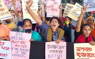 Bangladesh protest, deadly factory fire, worker rights, Solidarity Center