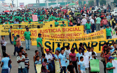 Honduras, maquila worker rally, worker rights, Solidarity Center