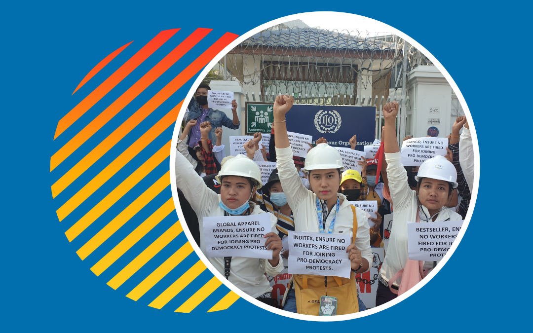 Myanmar, military coup, workers, democracy, Solidarity Center
