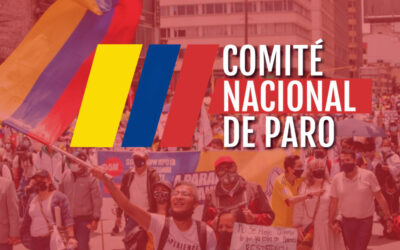 Colombia, CUT, National Strike Committee logo, worker rights, Solidarity Center