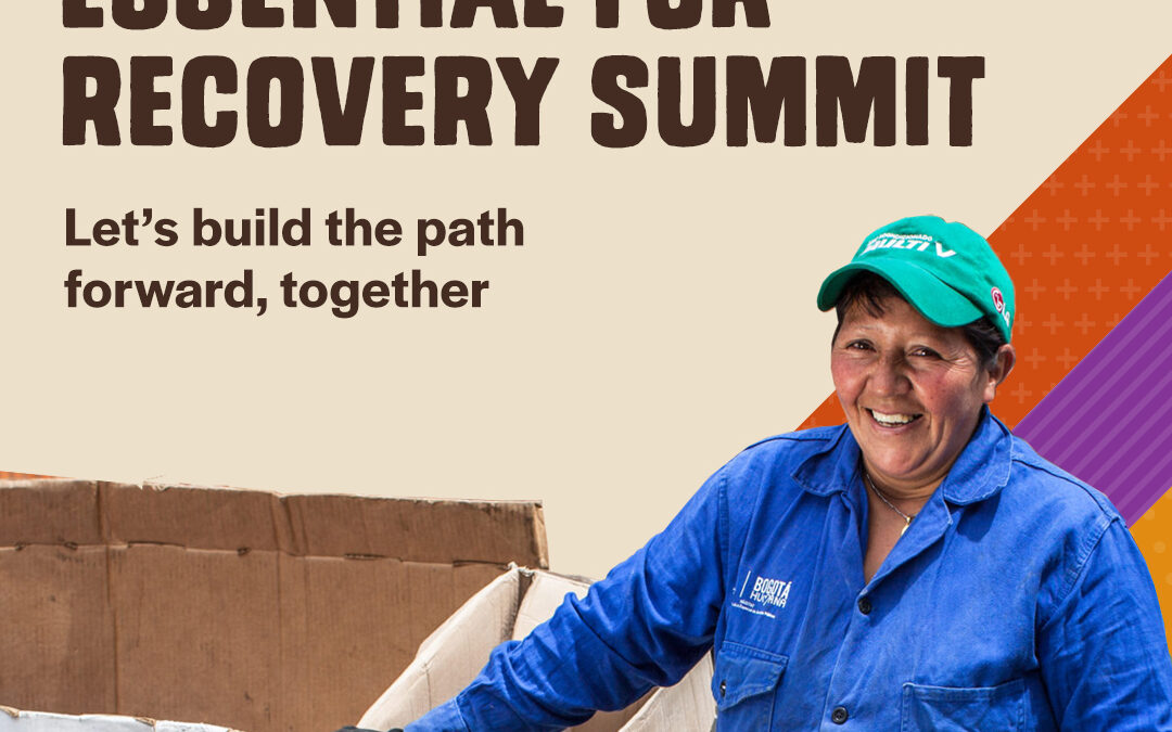 Essential Worker summit promo graphic, informal economy, building back better, Solidarity Center