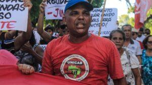 Brazil, street vendors, informal economy, protest against violence, worker rights, Solidarity Center